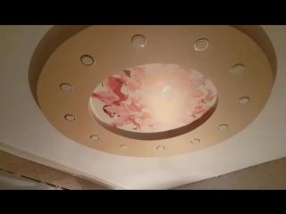 2х уровневый потолок с фото (АРТ) печатью