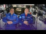 Космонавты МКС поздравили жителей РФ с Новым годом