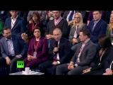 Владимир Путин принимает участие в заседании Медиафорума «Правда и справедливость»