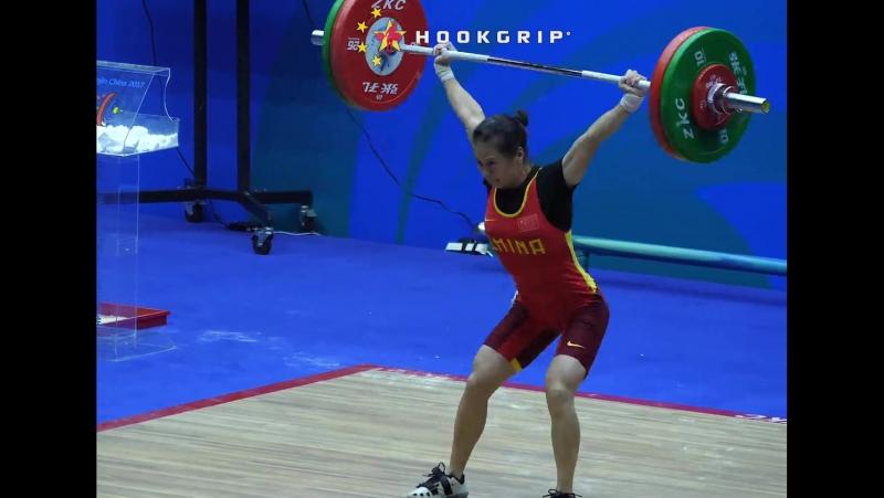Zhang Rong snatching 95kg210lb