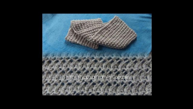 Ажурный шарф снуд, хомут. Вязание спицами. Knitting(Hobby)