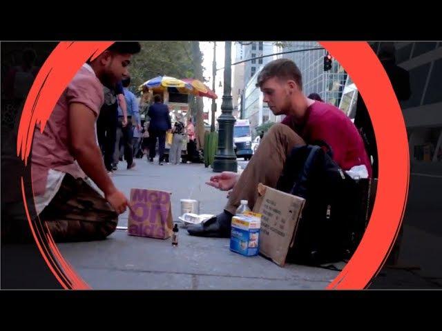 Еда Деньги или ЯД Выбор бездомного Социальный эксперимент Русская озвучка
