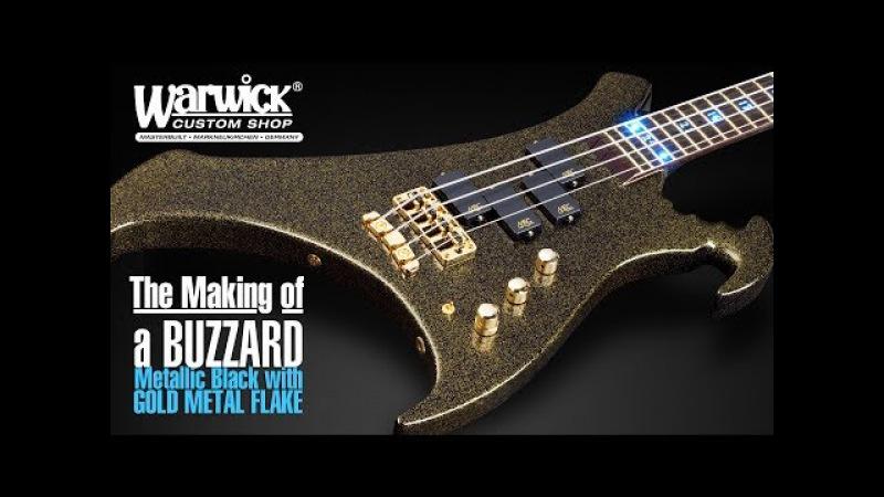 MAKING OF a Warwick Buzzard - Metallic Black with Gold Metal Flakes 17-3383