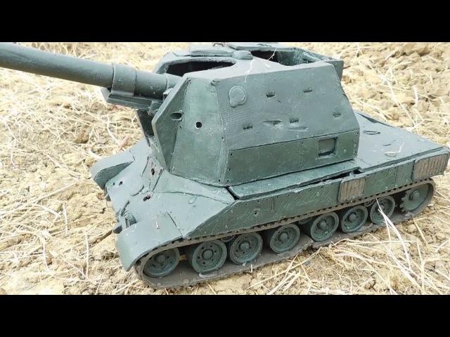 САУ Bat.-Chatillon 155 58 из пластилина даешь бой без арты