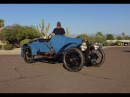 1913 Bugatti Type 22 Grand Prix Style Blue Race Car Engine Sound My Car Story with Lou Costabile