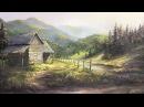 Rustic Cabin Oil Painting | Landscape Art