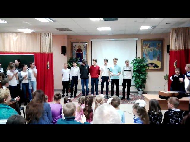 Первым делом самолёты - юношеский мужской хор Георгиевского Собора г. Одинцово