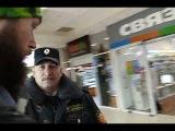 Неадекват охрана в торговом центре час пик