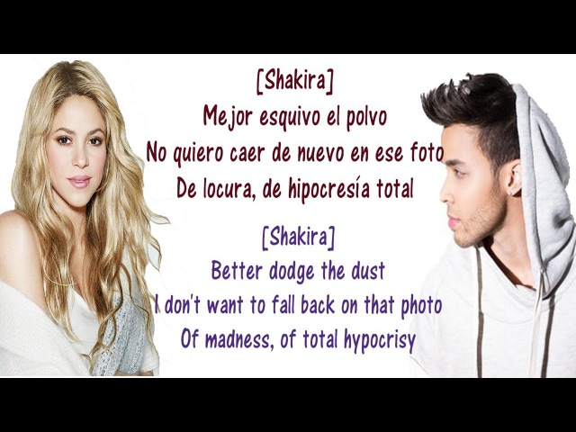 Prince Royce, Shakira - Deja Vu - Lyrics English and Spanish - Deja Vu - Translation Meaning