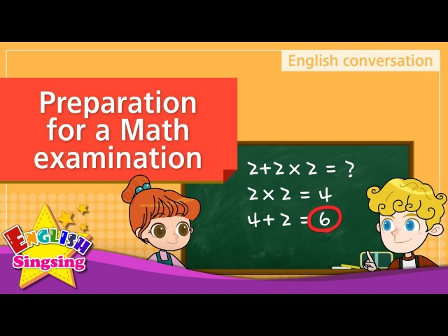 9. Math examination – preparation (English Dialogue)