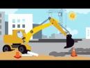 Песенка для детей - ЭКСКАВАТОР - Синий Трактор - Развивающие мультики про машинк.mp4