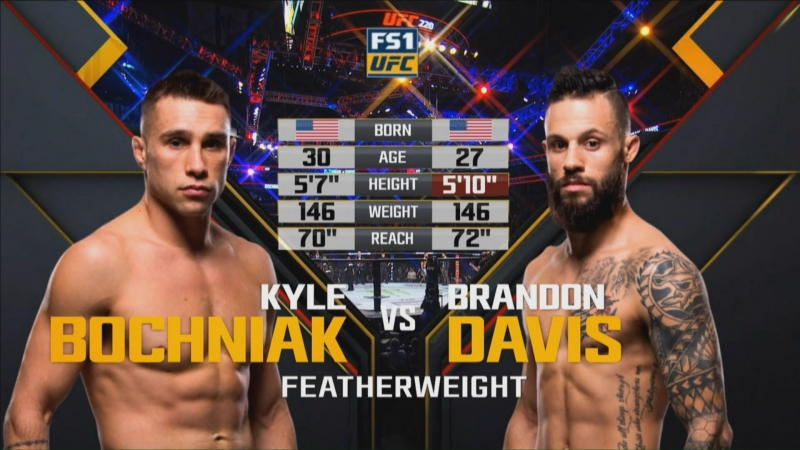 UFC 220 Kyle Bochniak vs Brandon Davis