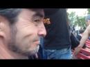 В.Ермаков (Черный Обелиск) и В.Билошицкий в Зеленом Театре на выступлении ТриоKRUIZ