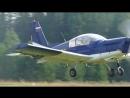 Бреющий полёт на Zlin-142. Праздник авиации в Кучанах, 2017г