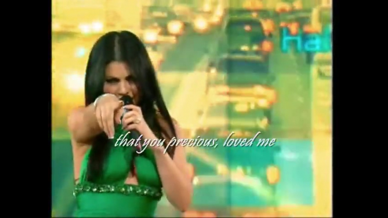 Haifa Wehbe Makhedtesh Bali english lyrics Live on Hala Show