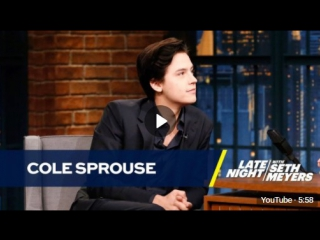 Cole Sprouse Recites Creepy Poetry He Wrote As a Child [RUS SUB]