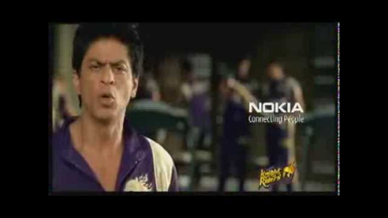 Shah Rukh Khan at Nokia KKR Tension Mat Le Yaar Ad - April 2011
