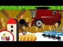 Откуда берется хлеб? Раскрашки-анимашки. Мультфильм про трактор и комбайн. Наше_