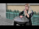 Prague Music. The Hang Steel Pan Masterly Played in Old Town Square