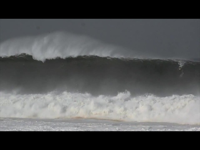 Surfer Mark Healey riding what the locals are calling the 'Biggest wave in Puerto Escondido history'