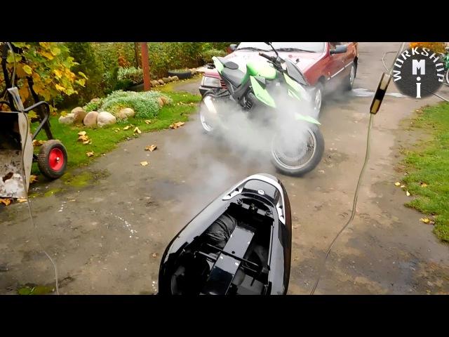 Раскоксовка мотора на мотоцикле honda cb 600F с помощью воды.