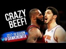 LeBron James vs Enes Kanter CRAZY Beef 2017 11 13 20 For Kanter CLUTCH Bron With 23 12 ASTS