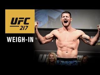 UFC 217: прямая трансляция церемонии взвешивания