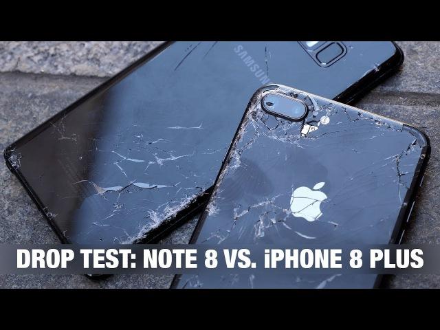IPhone 8 Plus vs. Galaxy Note 8 - DROP TEST пранк iPhone'ом