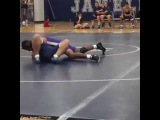 OMG !!  wait for it  watch the referee  in this wrestling match ( HILARIOUS )