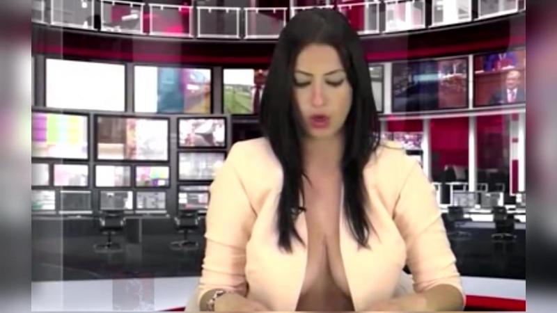 Реальная ведущая новостей на кастинге Албанского ТВ😀...
