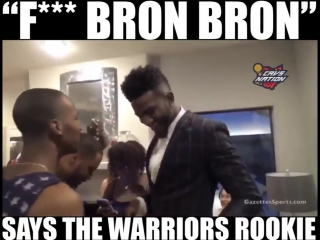 Looks like Golden State found a fitting, obnoxious rookie...