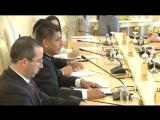 С.В.Лавров в ходе переговоров с Министром иностранных дел Боливии Ф.Уанакуни Мамани, Москва, 16 августа 2017 года