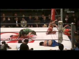 1. Mission K4 (Kagetsu, Kaho Kobayashi) vs. Suto Tamashi (Meiko Tanaka, Sareee) (3/20/16)