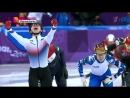 Шорт-трекист Семён Елистратов на Олимпийских играх в Пхенчхане завоевал бронзу (видео от 10.02.2018 года)