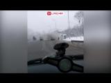 На Горьковском шоссе загорелся автобус с юными хоккеистами.