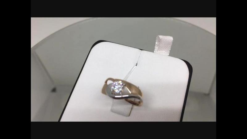 Кольцо золото 585 пробы с фианитом