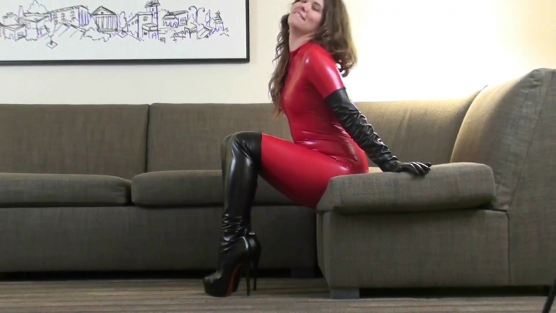 Daphney-Red-Catsuit-Over-Knee-Boots-HH-HD-mp4