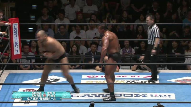 Yuji Nagata, Katsuya Kitamura vs. Manabu Nakanishi, Tomoyuki Oka (NJPW - Road to DESTRUCTION 2017)