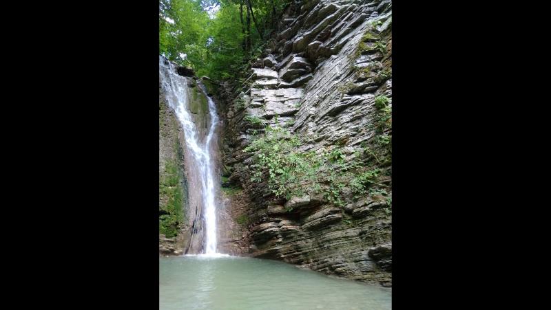 Пшада. Лес и речка в горах. На пути к водопадам.