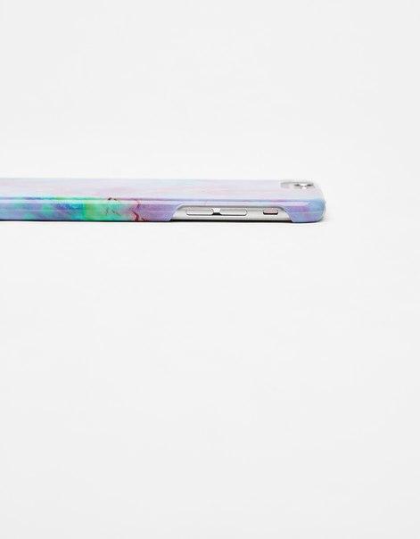 Чехол с мраморным эффектом для iPhone 6 Plus/ 7 Plus/ 8 Plus