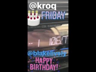 Барт Джонсон поздравляет Блейк Лайвли с Днем Рождения