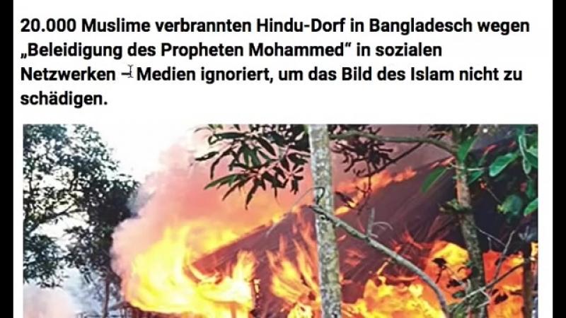 20.000 Muslime verbrannten Hindu-Dorf -Von Medien ignoriert, um das Bild des Islam nicht zu schädigen
