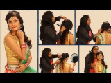Simple Indian Bridal Hairstyle - Floral Curls Wedding Hairstyle For Saree & Lehenga