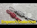 Плетем из паракорда Emperor's Snake Knot Любомир Борода