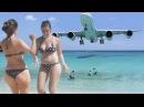St Maarten CARIBE MULHERES na PRAIA vs AVIÕES Boeing e Airbus ✱ PRAIA linda de VISITAR