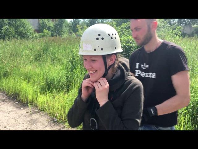 Роупджампинг (прыжок с башни Вики и Насти)