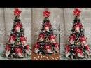 Ёлка из мишуры и конфет Рафаэлло. Christmas Tree of Clinquant and Candies Raffaello