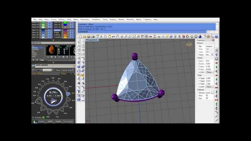 Rhino cad matrix gemvision trillion kolet for jewellery design