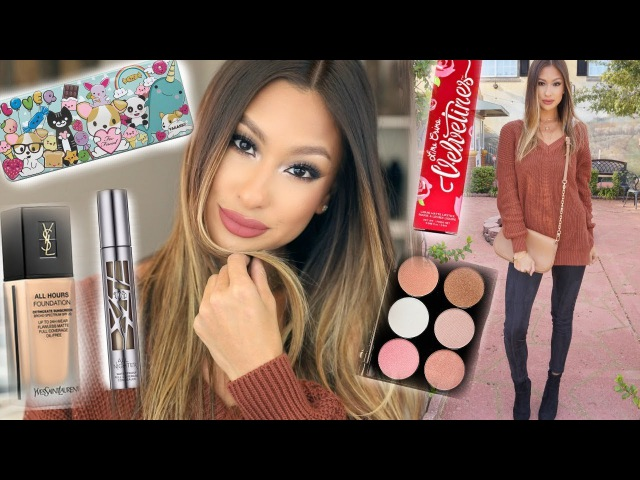 Thanksgiving Makeup Outfit Idea! | Trying NEW Products
