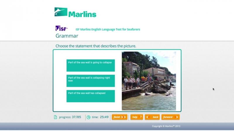 MARLINS test online (marine engineering management level), 93%